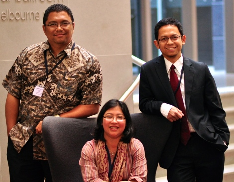 The three Indonesian ALA scholars